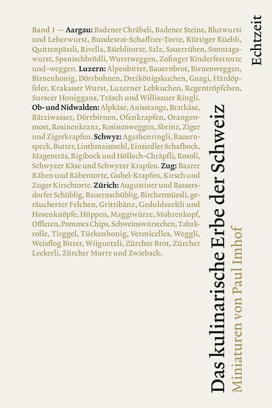 Echtzeit Verlag | Kulinarisches Erbe der Schweiz, 1